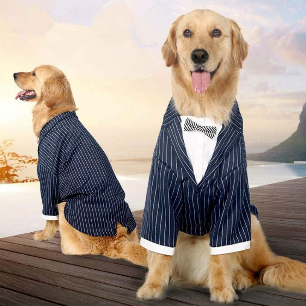 N/A Ropa para Perros Abrigo Traje de Perro para niño FRAC Esmoquin caniche Pug Bulldog Golden Retriever Ropa para Perros Abrigo Vestido de Boda Disfraz de Mascota Masculina