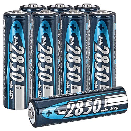 ANSMANN 2850mAh Slimline NiMH AA Rechargeable Batteries, ()