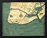 Cape May, New Jersey 3-D Nautical Wood Chart, 16'' x 20''
