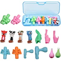 Pencil Grips, 15 Pack Original Breakthrough Assorted Writing Aid Grip Trainer Posture Correction Finger Grip for Kids…