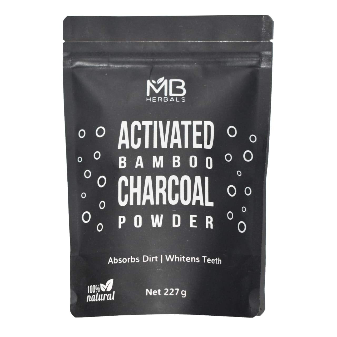 MB Herbals Activated Bamboo Charcoal Powder 227g | 8 oz | Deep Cleanses & Detoxifies Skin & Hair | Whitens Teeth | Food Grade