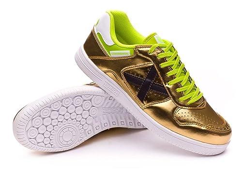 Munich Zapatillas de Fútbol Sala Para Hombre Dorado Size: 42 EU: Amazon.es: Zapatos y complementos