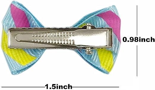 30pcs Dog Hair Bows Shinning Strass Bow Pattern Elastico Corda per Capelli Hair Band Accessori per Capelli per Cani Pet Prodotti per la Cura dei Cuccioli Gatti