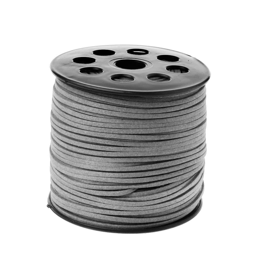 caf/é VIccoo 3mm 90m Roll Faux Suede Cord DIY Cuero Cuerda Hilo Cuerda para Fabricaci/ón de Joyas
