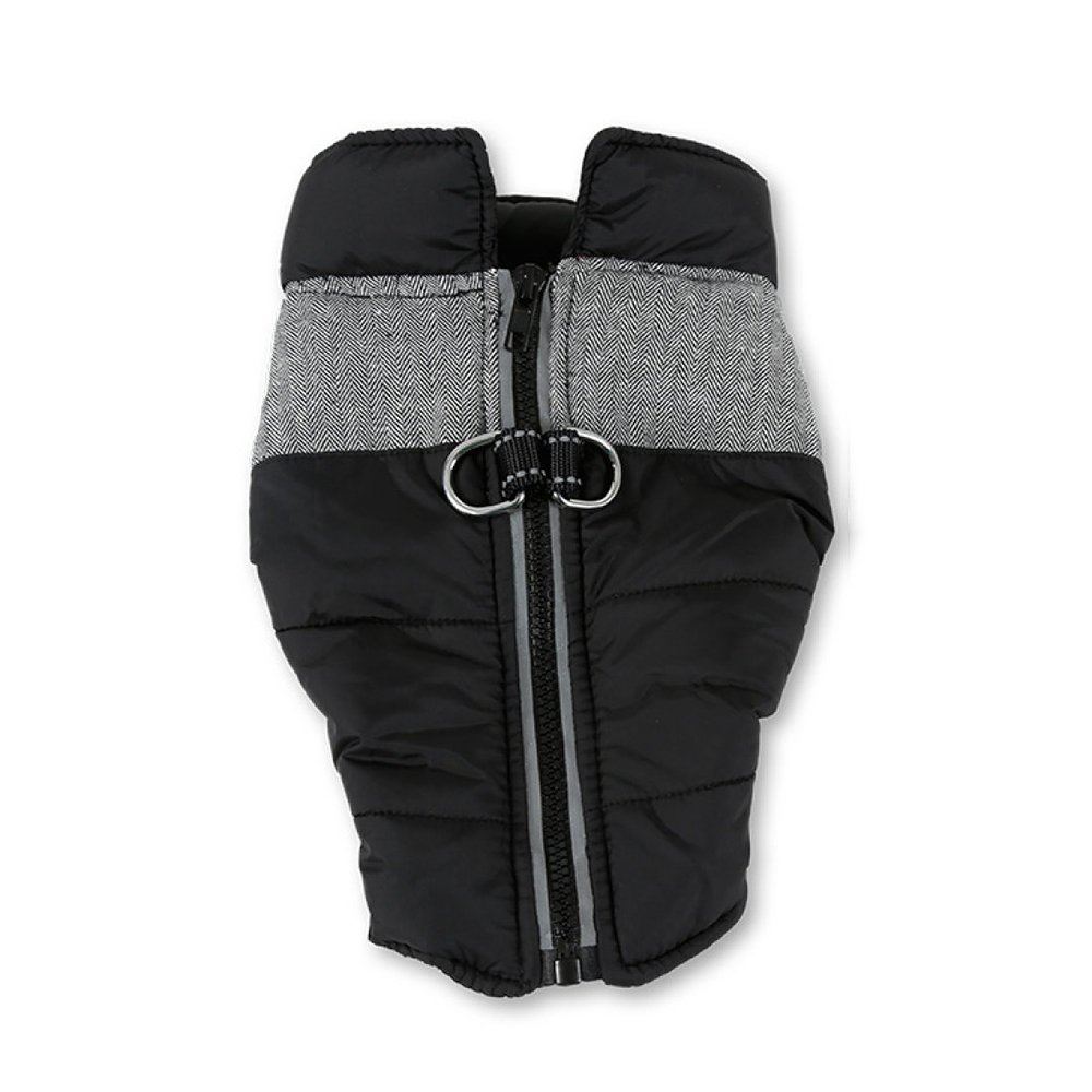 B LargeLDFN Waterproof Dog Coat Pet Zipper Clothes Big Dog Coat Thickened Jacket Vest Winter,BL