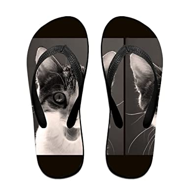 Couple Flip Flops Baby Kittens Print Chic Sandals Slipper Rubber Non-Slip House Thong Slippers