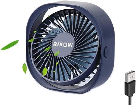 RIXOW Ventilador USB, Mini Ventilador USB de Mesa Silencioso ...