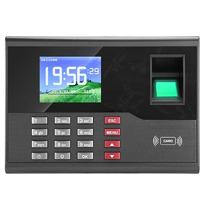 Asistencia Biométrico de Huellas Dactilares Tiempo, Reloj Registrador Tiempo empleados Digitales Biométrico Tiempo Máquina de Asistencia (EU): Amazon.es: ...