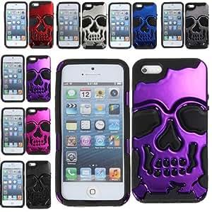 Funda de silicona esqueleto óseo Diseño Combo para el iPhone 5 5S: Gris