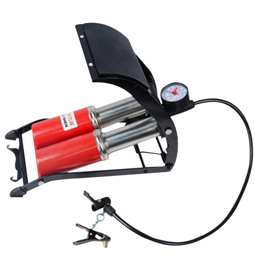 MOWANG Dual-cylinder Foot Pump, Portable Floor Pump with Accurate Pressure Gauge & Smart Valves, 160PSI Air Pump for Bicycles, Motorcycles, Cars, Balls and Other Inflatables