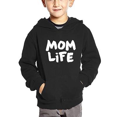 Crali Mom Life Boys and Girls Fashion Hooded Sweatshirt With Pocket