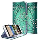 NageBee PU Leather Flip Folio Wallet Case for HTC Desire 626 / Desire 626s - Wallet Plum Blossom