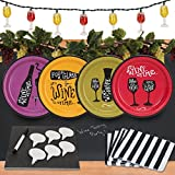 Wine Time 32 pc Appetizer Pack w/ Chalkboard Runner, Cheese Board & Decor