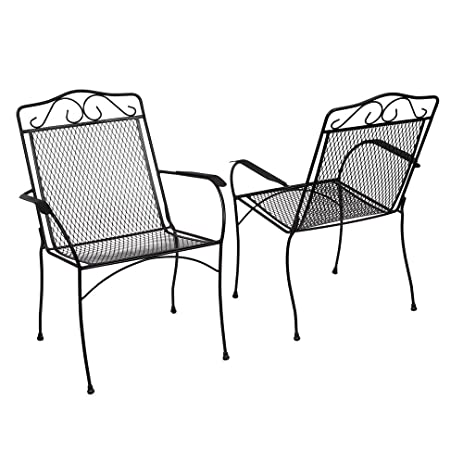 Amazing Nantucket Metal Outdoor Dining Chair (2 Pack)