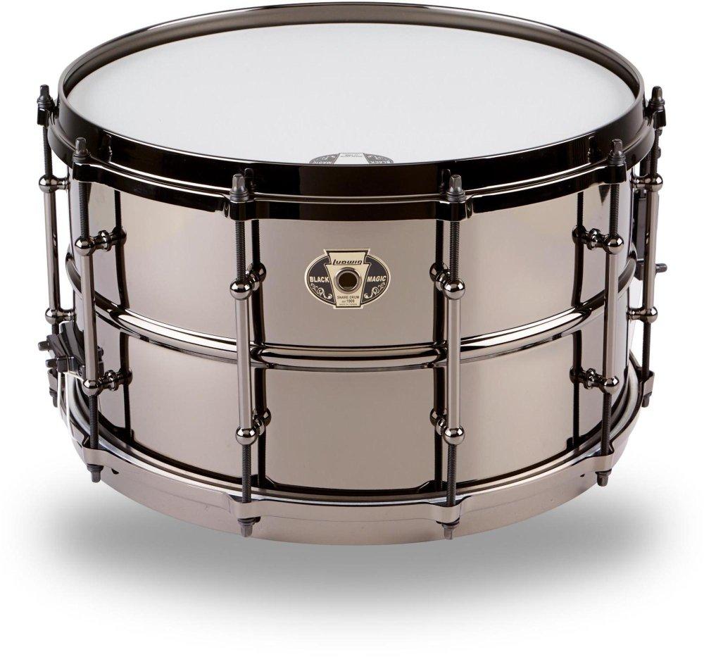 Ludwig Black Magic Snare Drum - 8'' x 14''