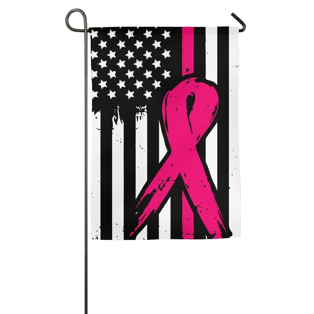 field tree Pink Ribbon Breast Cancer Awareness Flag Home Garden Flag Decorative for Garden Home Welcome Demonstration Flag