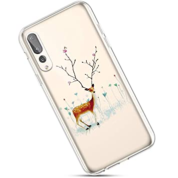 Felfy Christmas Funda Compatible con Huawei P20 Pro Carcasa ...