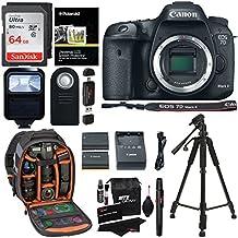 Canon EOS 7D Mark II Digital SLR Camera (Body) + 64GB Memory Card + 57 Inch Tripod + Spare Battery + Polaroid Slave Flash + Professional DSLR Case + Polaroid Accessory Kit