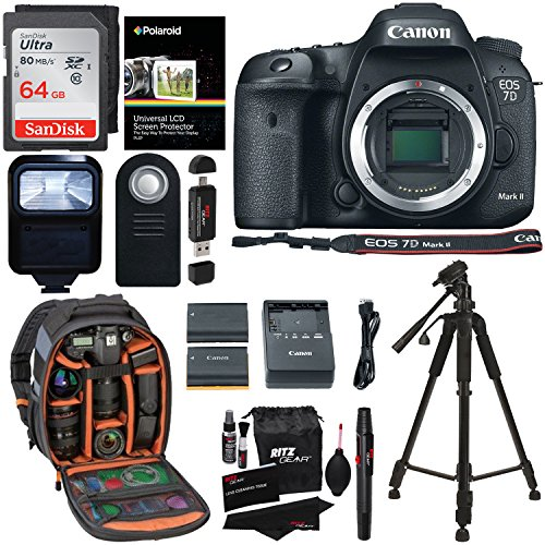 Digital SLR Camera (Body) + 64GB Memory Card + 57 Inch Tripod + Spare Battery + Polaroid Slave Flash + Professional DSLR Case + Polaroid Accessory Kit (Expandable Media Frame)