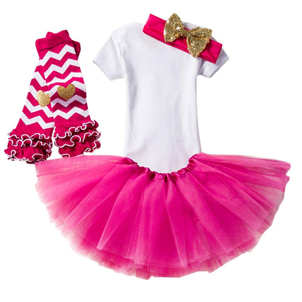Baby Girl Its My 1st//2nd Birthday Cake Smash 3//4Pcs Shinny Sequin Bow Romper+Tutu Skirt+Headband+Leg Warmer Outfit