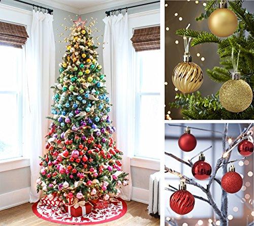 Christmas Decorations To Make At Home For Free: KI Store 24ct Christmas Ball Ornaments Shatterproof