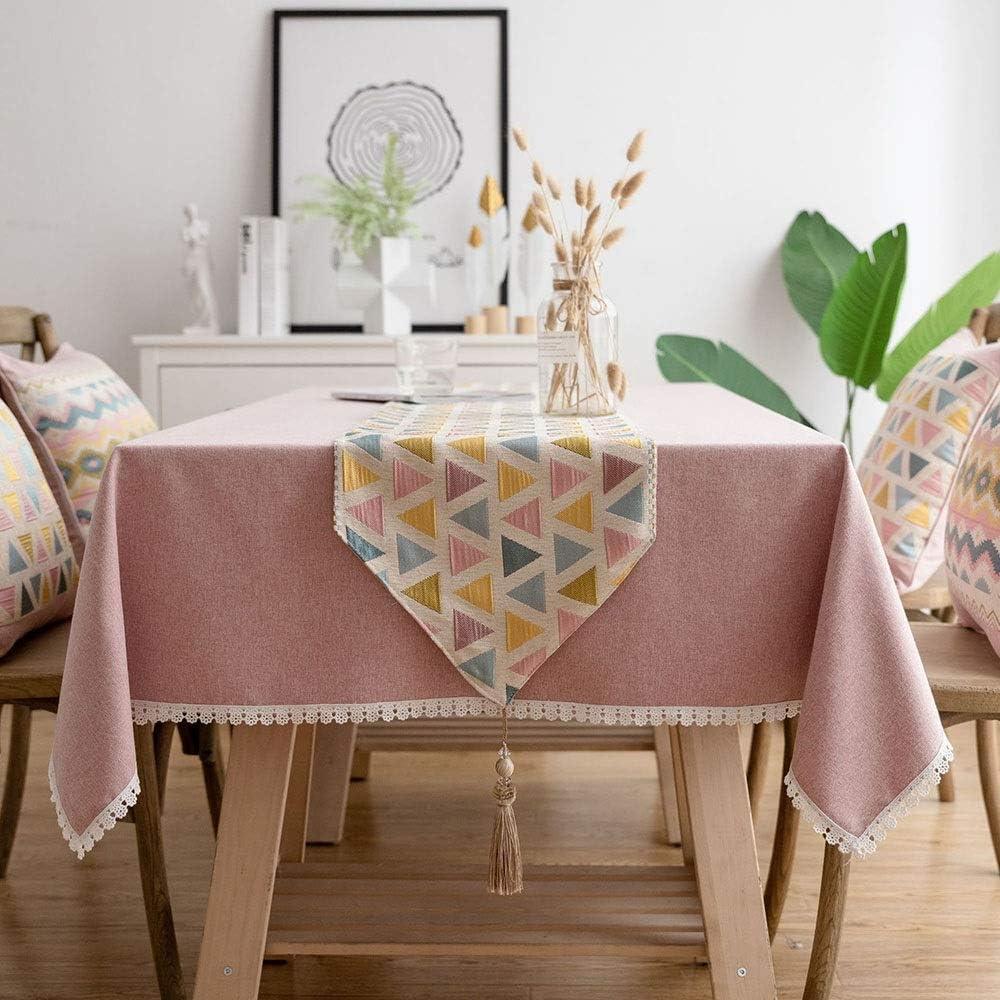 三角形のパターンコットンポリエステルテーブルランナーテーブルクロスホームデコレーション-芸術的な装飾ダイニングテーブルランナーテーブルリネンホリデーパーティーギフト