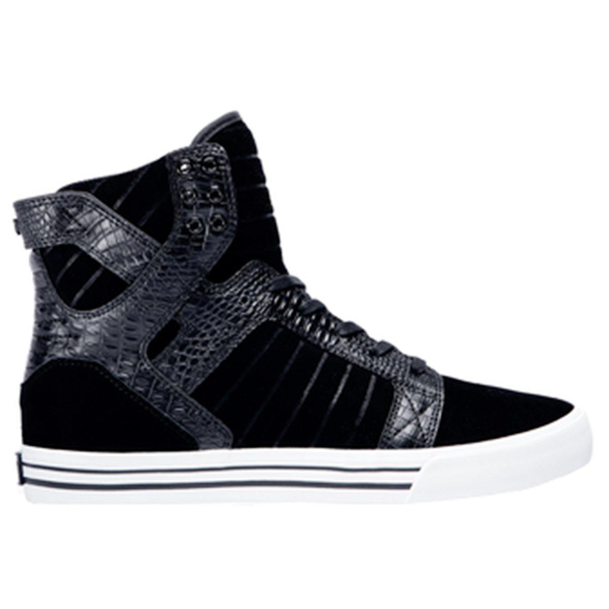 e9dedb96606 Galleon - Supra Mens Skytop Shoes Size 9.5 Black / Croc - White