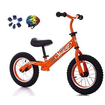 JYY Equilibrio Bicicleta para Niños Marco De Acero De Alto Carbono Rueda Inflable De Goma Sin Pedal Niño Que Aprende ...
