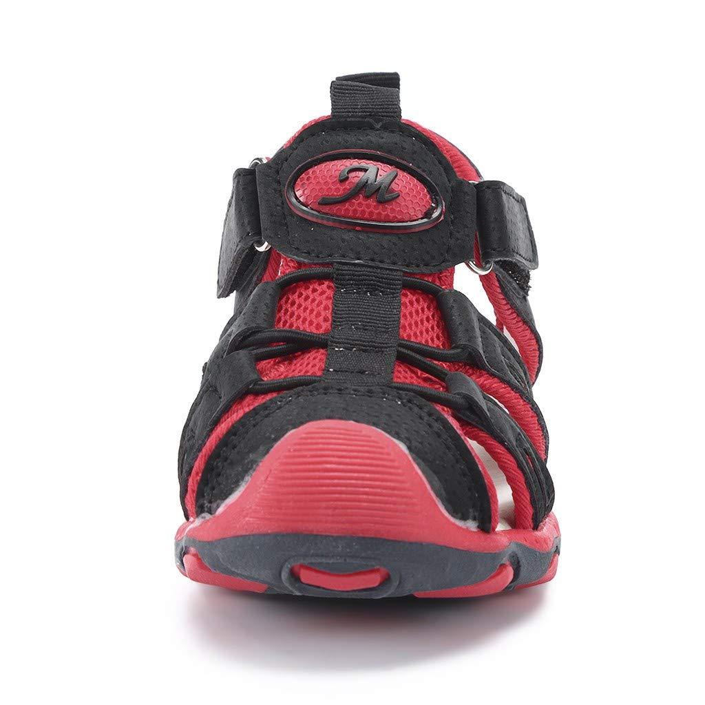 2019 Verano Primavera Primeros Pasos Sandalias Deportivas Al Aire Libre De Punto Cerrado Suave Zapato De Suela Blanda Zapatillas Calzado Para Beb/é Ni/ños