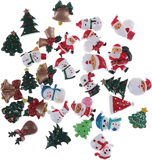 4x  large Elf On Shelf  Xmas Planar Resin Flatback Bow Embellishments Craft