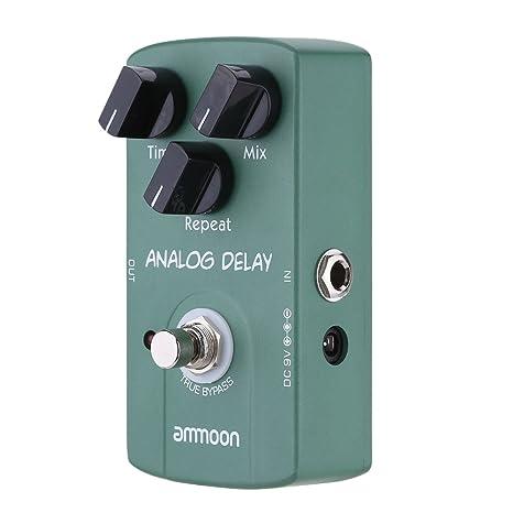 ammoon AP07 Analog Delay Guitarra Eléctrica Pedal Efecto True Bypass: Amazon.es: Electrónica