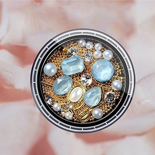 Kapmore Uña Art Diamante de Imitación Uña Art Rosario Tipos Surtidos Uña Art Decoración Joyería Uña Accesorios para Mujeres: Amazon.es: Belleza