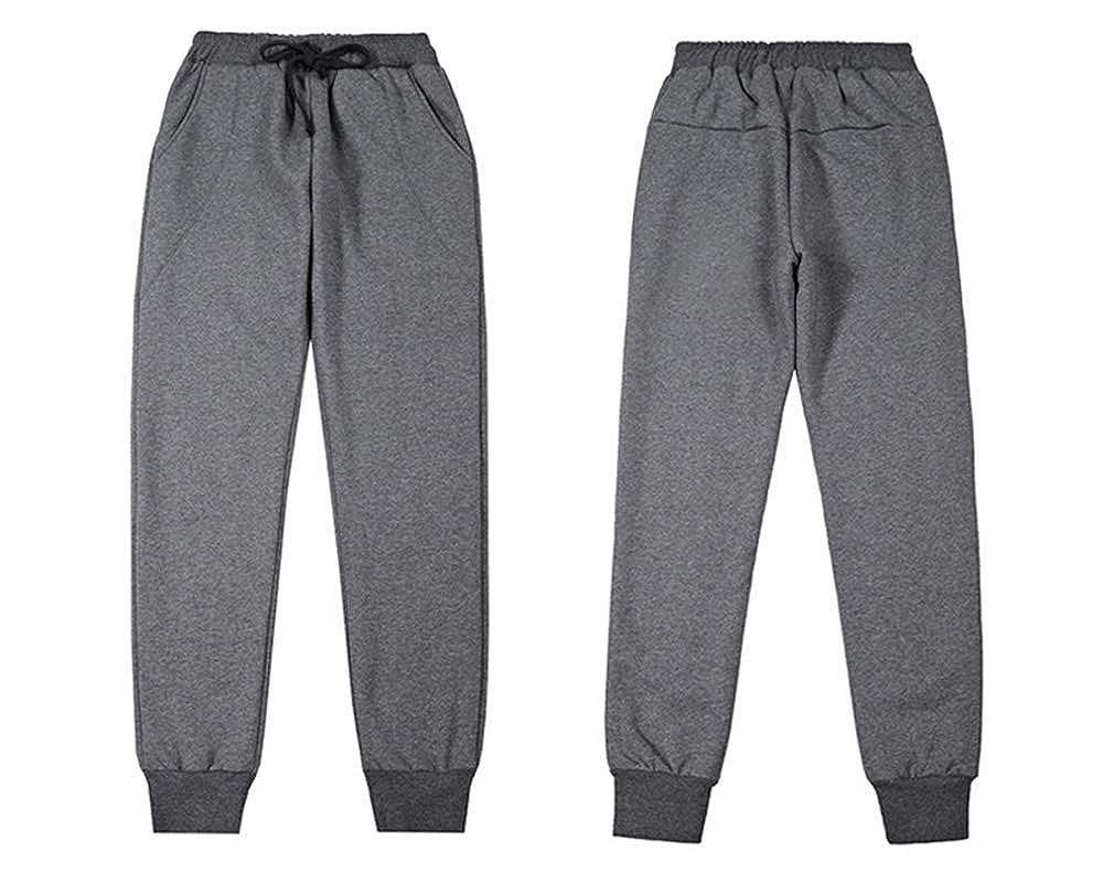 27d01a3fe9 Ecupper Womens Winter Thick Warm Jogging Pants Fleece Lined Trousers Joggers