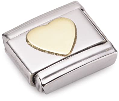 Nomination Composable Classic Love Double Heart Stainless Steel and 18K Gold N7JW72N