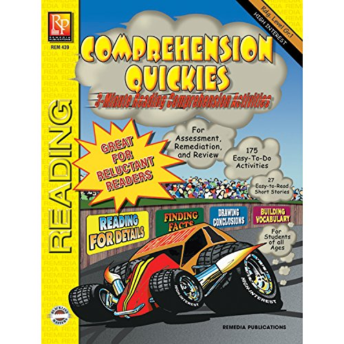 REMEDIA PUBLICATIONS Quickies Reading Level 1 Multicolor Book Comprehension Workbook