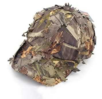 SUNRIS 3D Leaves Baseball Hats Jungle Woodland Camo Snipers for Men Airsoft  Tactical Hunting Sunshade fcc3c264b942