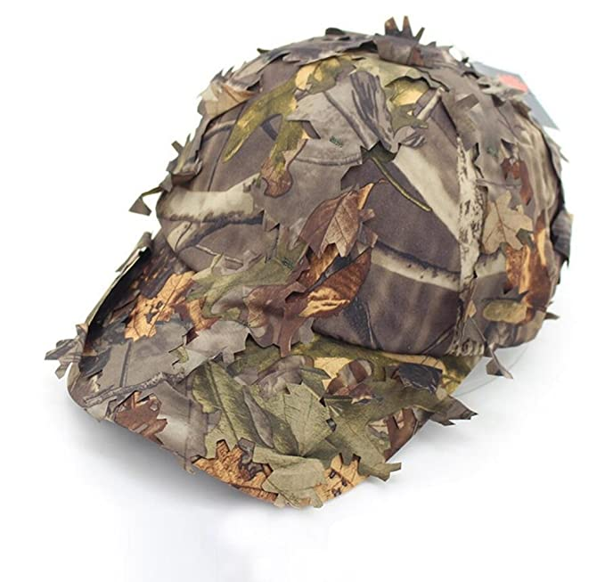 afcb39948fc Oarea Airsoft Tactical Woodland Leaves Camo Sniper Boonie Hats Military for  Men Camouflage Breathable Hunting Sunshade Baseball Caps  Amazon.co.uk   Sports   ...