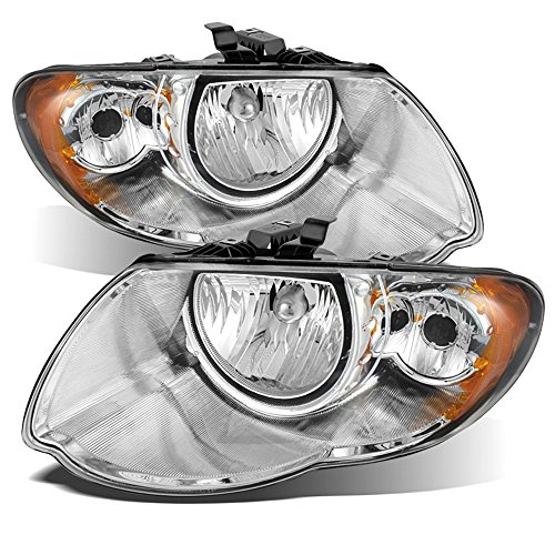 (ACANII - For Chrome 2005-2007 Chrysler Town & Country Headlights Headlamps 05 06 07 Replacement Driver + Passenger Side)