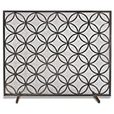 Pilgrim Home and Hearth 18310 Beford Single Panel Screen, Matte Black