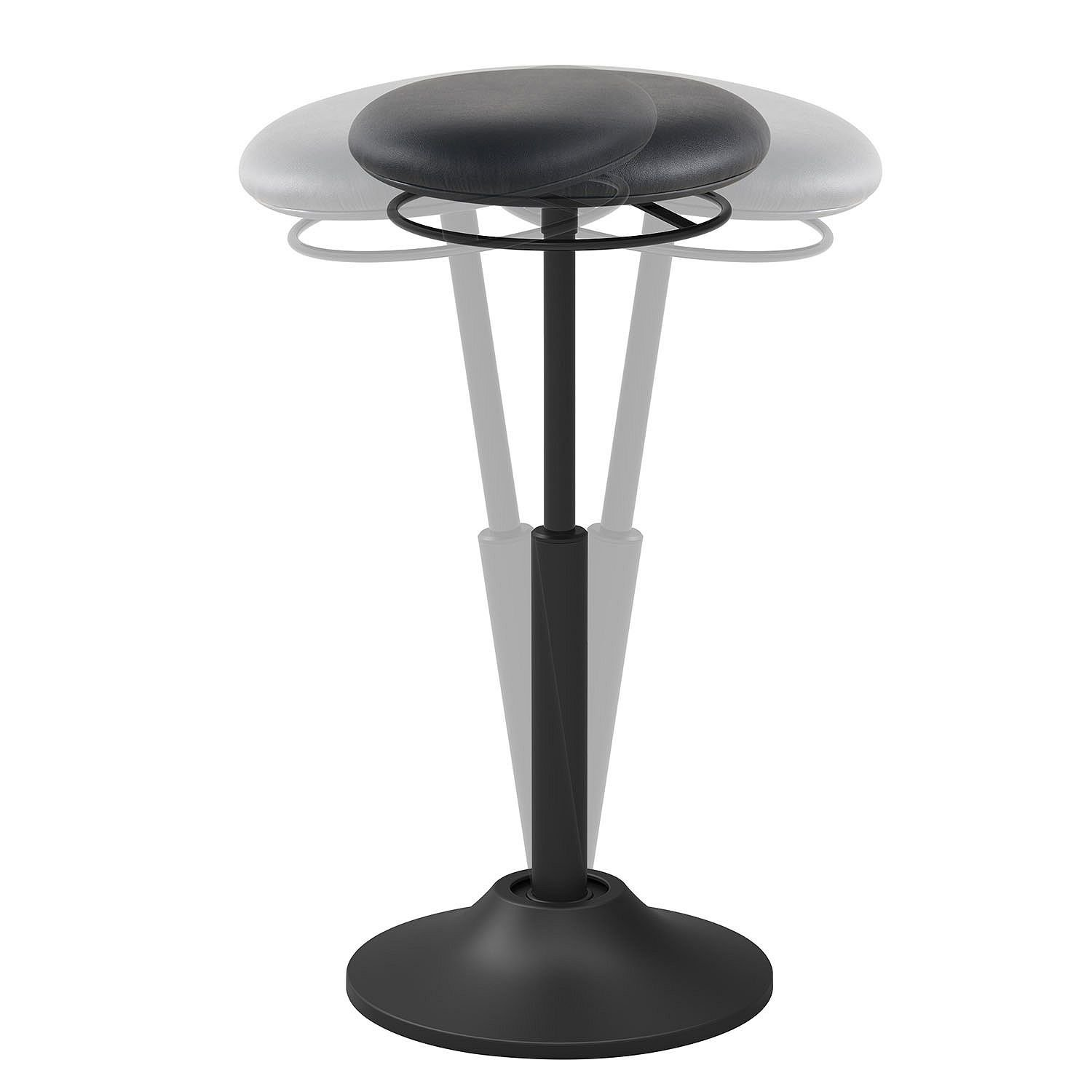 Motion Chair 360-degree Swivel and Tilt Healthy Sit-to-Stand Stool Chair (Black)
