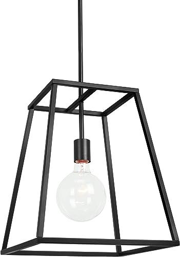 Kira Home Boston 16″ 1-Light Modern Farmhouse Lantern Pendant Light
