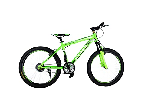 98134cb21907b Buy HYDRA Warrior 27.5 Inches Single Speed V Brake Bike for Adults Green  Online at Low Prices in India - Amazon.in