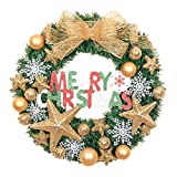 Merry Christmas Christmas Wreath Garland Ornaments Arcades Hotel Christmas Decorations (gold)