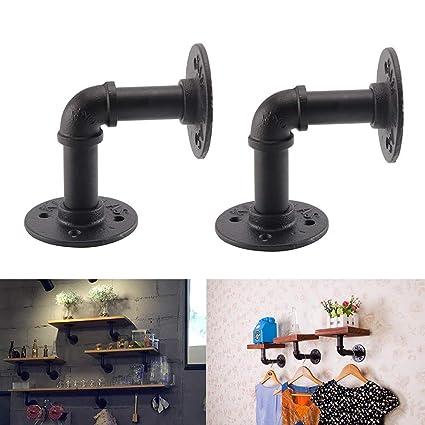 Staffe Per Mensole In Ferro.Kungfu Mall 2 Staffe Per Mensole In Ferro Industriale Stile