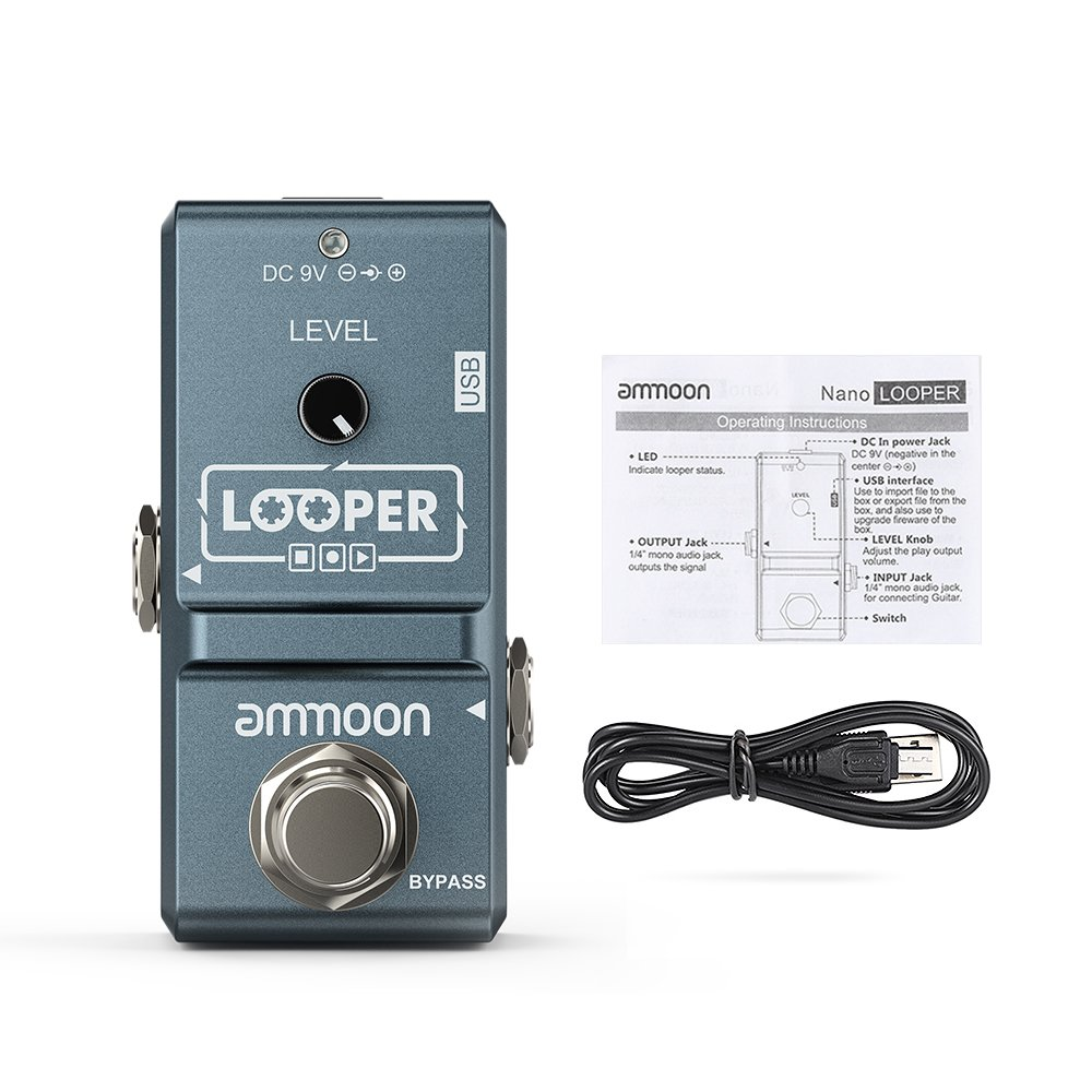 ammoon AP-09 Nano Loop Electric Guitar Effect Pedal Looper True Bypass Unlimited Overdubs 10 Minutes Recording with USB Cable by ammoon (Image #8)