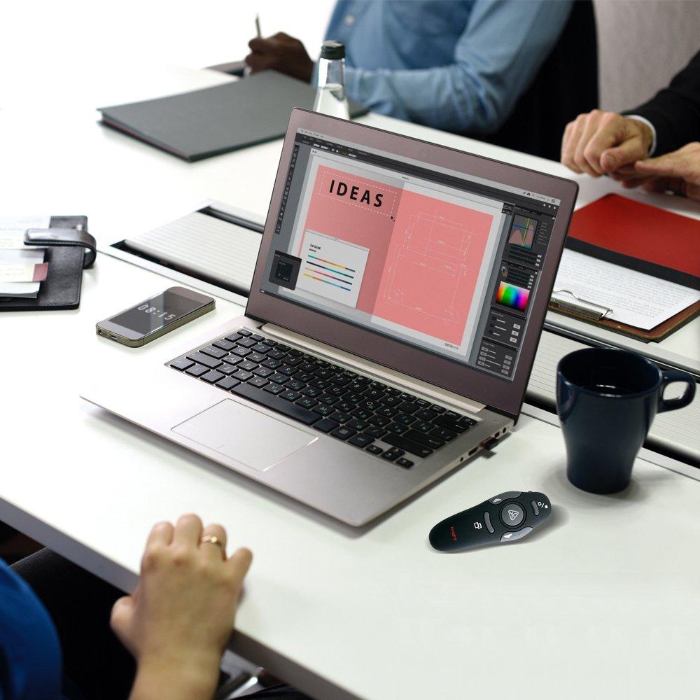 Wireless Presenter Longjoy RF 2.4GHz Laser Presenter Remote Presentation Laser Pointer USB Control PowerPoint PPT Clicker by Longjoy (Image #6)
