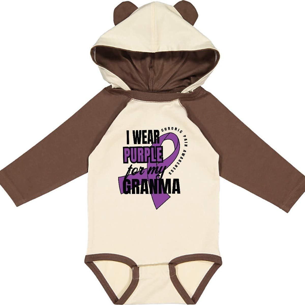 inktastic Chronic Pain I Wear Purple for My Granma Long Sleeve Creeper