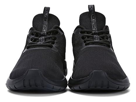 Soulsfeng Zapatos Deportivos Zapatillas Zapatos de Hombres para Mujer Calzado Deportivo Zapatos Planos Zapatos Con Cordones(negro 47EU) OuWFKPf