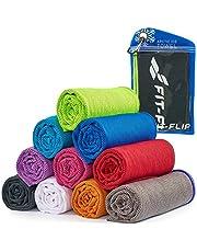 Cooling towel voor sport & fitness - microvezel handdoek/koeldoek als verkoelende handdoek voor het lopen, trekking, reizen & yoga – Airflip Cooling towel