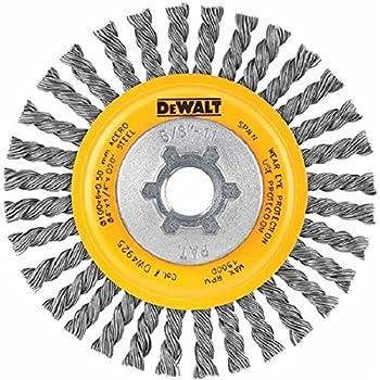 DEWALT DW4930 4-Inch by 5/8-Inch-11 Full Cable Twist Wire Wheel/Carbon Steel .020-Inch